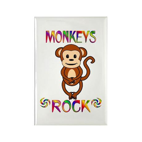 Monkey Rectangle Magnet (100 pack)