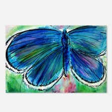 Blue, Butterfly, Bright, Postcards (Package of 8)