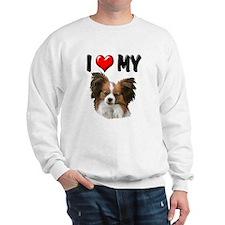 I Love My Papillon Sweatshirt