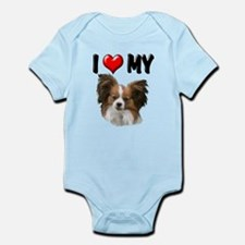 I Love My Papillon Infant Bodysuit