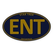 Star Trek: ENT Gold Oval Decal