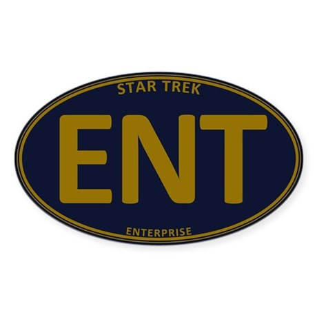 Star Trek: ENT Gold Oval Sticker (Oval)