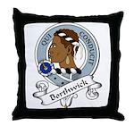 Borthwick Clan Badge Throw Pillow