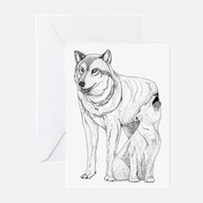 Wolf Parent and Baby Greeting Cards (Pk of 10)