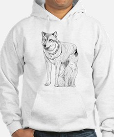 Wolf Parent and Baby Jumper Hoody
