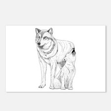 Wolf Parent and Baby Postcards (Package of 8)