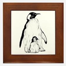 Penguin Parent and Baby Framed Tile