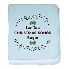 Christmas Songs baby blanket