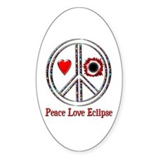 Peace Love Eclipse Decal