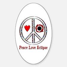 Peace Love Eclipse Sticker (Oval)