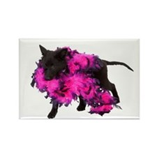 Pink Boa Puppy Rectangle Magnet