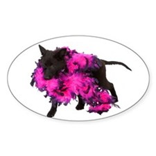 Pink Boa Puppy Decal