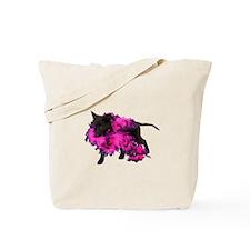 Pink Boa Puppy Tote Bag
