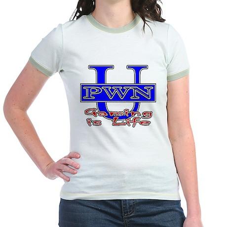 "PWN U ""Gaming Is Life"" Jr. Ringer T-Shirt"