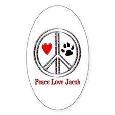 Peace Love Jacob Decal