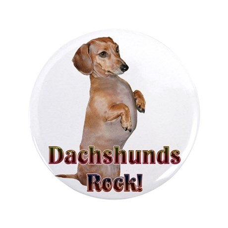 "Dachshunds Rock! 3.5"" Button"