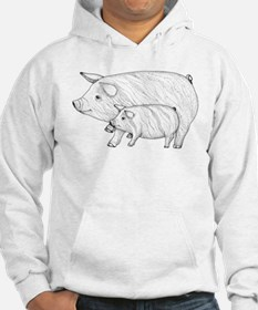 Pig Parent and Baby Hoodie