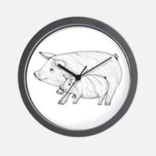 Pig Parent and Baby Wall Clock