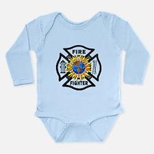 Firefighter Energy Planet Long Sleeve Infant Bodys