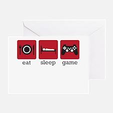 Eat Sleep Game Greeting Card
