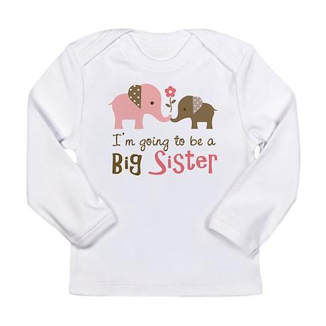 Big Sister to be - Mod Elephant Long Sleeve Infant