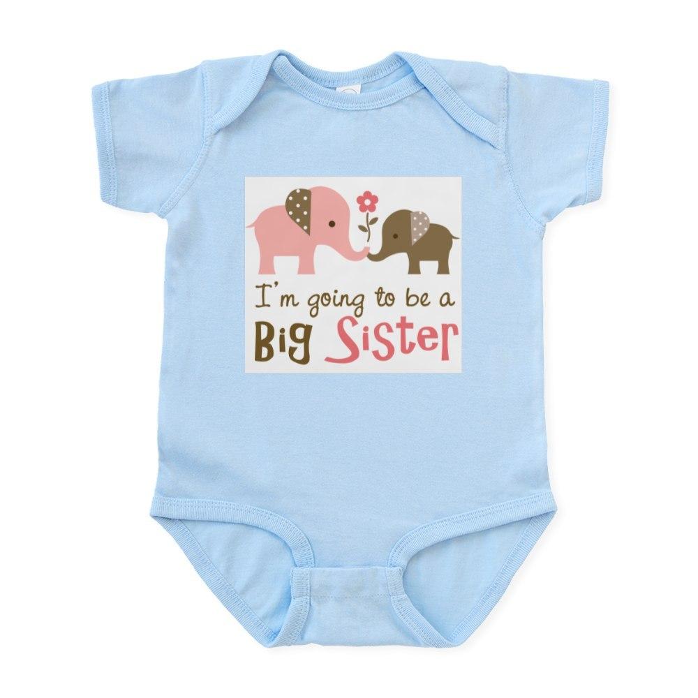 CafePress Big Sister to be - Mod Elephant Infant Bodysuit