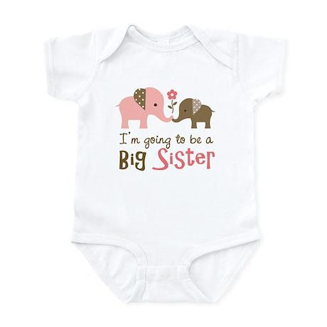 Big Sister to be - Mod Elephant Infant Bodysuit