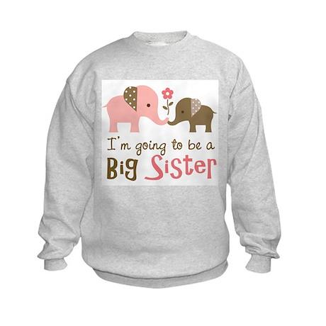 Big Sister to be - Mod Elephant Kids Sweatshirt