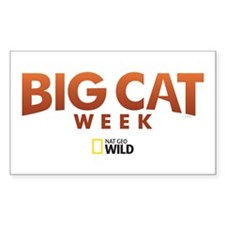 Big Cat Week Sticker (Rectangle)