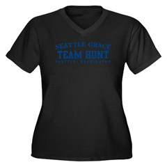 Team Hunt - Seattle Grace Women's Plus Size V-Neck
