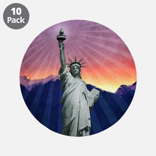 """Statue of Liberty 3.5"""" Button (10 pack)"""