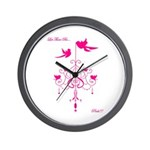 Let There Be Pink! Wall Clock