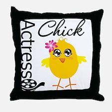 Actress Chick Throw Pillow