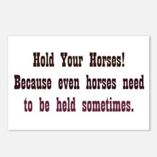 Horses need to be Held Postcards (Package of 8)
