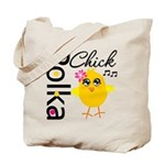 Polka Chick Tote Bag