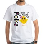 Polka Chick White T-Shirt