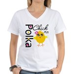 Polka Chick Women's V-Neck T-Shirt