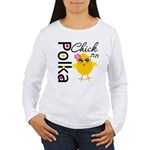 Polka Chick Women's Long Sleeve T-Shirt
