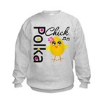 Polka Chick Kids Sweatshirt