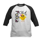 Polka Chick Kids Baseball Jersey