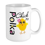 Polka Chick Large Mug