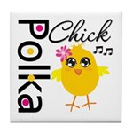 Polka Chick Tile Coaster