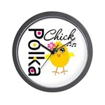 Polka Chick Wall Clock