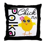Polka Chick Throw Pillow