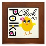 Polka Chick Framed Tile