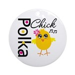 Polka Chick Ornament (Round)
