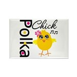 Polka Chick Rectangle Magnet