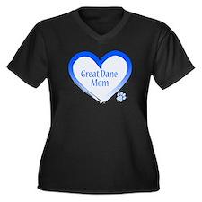 Pug Mom Women's Plus Size V-Neck Dark T-Shirt
