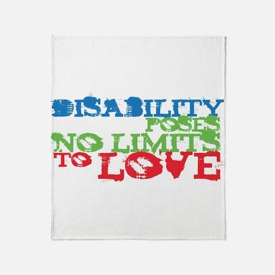 Disability + Love Throw Blanket