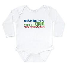 Disability No Limits Long Sleeve Infant Bodysuit